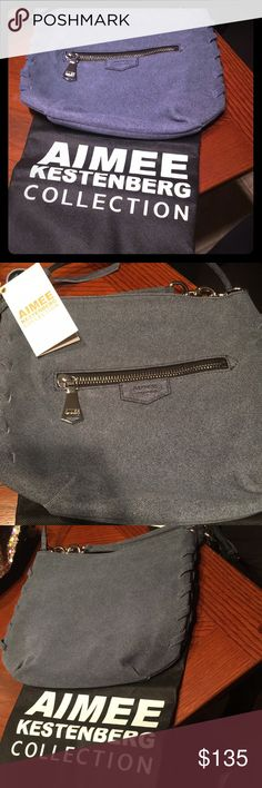 AIMEE KESTENBERG BRAND NEW DARK DENIM BAG Authentic. Brand new. Dark denim mid sized cross body bag. 100% denim leather. Originally $210. Selling for $135 Aimee Kestenberg Bags Shoulder Bags