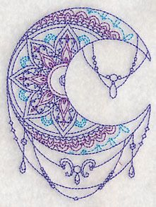 Mehndi Moon design (L4584) from www.Emblibrary.com