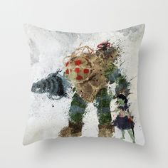 Bioshock Throw Pillow #gaming #decor
