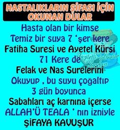 HUZUR SOKAĞI (Yaşamaya Değer Hobiler) Prayers For Healing, Religion, Health, Quotes, Amigurumi, Plaster, Quotations, Health Care, Quote