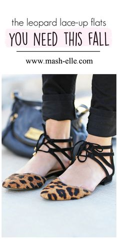 I've been wearing these leopard lace-up flats non-stop this season! They are super comfortable and affordable. Click here for more details.