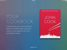 User Interface, Family Meals, Ads, Cooking, Cover, Books, Ipad App, Kitchen, Libros