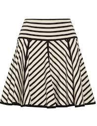 falda rayas black and white