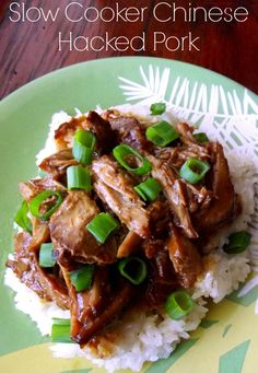Slow Cooker Chinese Hacked Pork http://www.lifewiththecrustcutoff.com/slow-cooker-chinese-hacked-pork/
