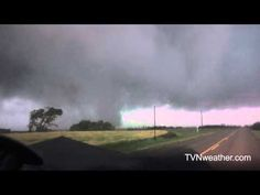 """Pierson - Virden - Tilston, MANITOBA, Canada, July 27, 2015, (EF2 """"high-end"""" tornado). The TVN weather crew with Reed Timmer and crew getting ever more potty mouthed, captured a phenonmenal shape shifting tornado with impressively audible winds, remarkably violent motion and an almost unheard of lifespan of nearly three hours. No one was hurt in the rural area. Even with its relatively low rating, this will go down as one of the most fascinating twisters of recent years. (KevinR@Ky)."""