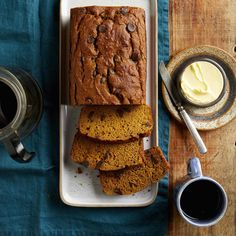 Two favorite quick breads come together in this healthy pumpkin banana bread recipe. Pumpkin puree and mashed banana add sweetness to help cut down the amount of added sugar while ensuring this whole-wheat loaf stays moist and tender. Zucchini Banana Bread, Pumpkin Banana Bread, Banana Nut Muffins, Healthy Banana Bread, Canned Pumpkin, Healthy Pumpkin, Pumpkin Puree, Pumpkin Scones, Pumpkin Pumpkin