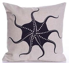 Caryko Home Decor Cotton Linen Square Throw Pillow Case Cushion Cover (Octopus-Black) Caryko http://www.amazon.com/dp/B00YV21C6E/ref=cm_sw_r_pi_dp_WPhCvb0PDR9P0
