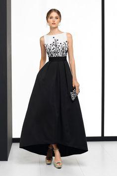 Binomio blanco y negro para un vestido de boda 962c4acd98d