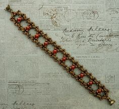 Linda's Crafty Inspirations: Bracelet of the Day: Ivy Bracelet - Coral Bronze