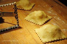 Handmade ravioli - spinach/mozzarella and crab