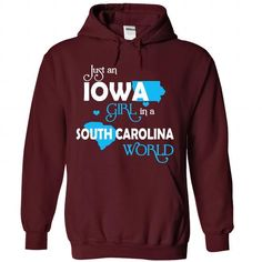 An IOWA-SOUTH CAROLINA girl Blue03 - #mens zip up hoodies #unique t shirts. PRICE CUT => https://www.sunfrog.com/States/An-IOWA-2DSOUTH-CAROLINA-girl-Blue03-Maroon-Hoodie.html?60505