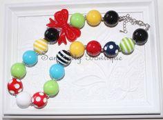 Rainbow Chunky Bubblegum Bead Necklace by SamdipityBowtique, $21.95