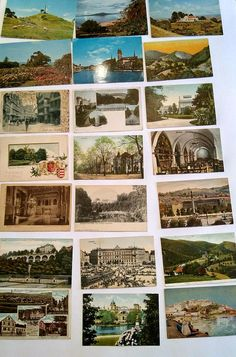 Vintage Lot of 40+ 1920's - 1970's Postcards / Overseas Foreign Countries / New Zealand / Germany / Mexico / Spain / As-Is