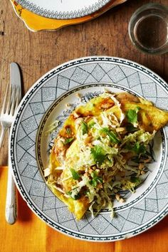 Mission Chinese Chef Danny Bowien's Clam Omelet With Cabbage-Peanut Slaw
