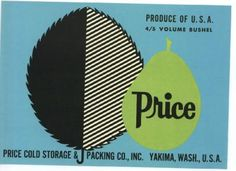 PRICE Vintage Pear Crate Label