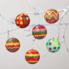 Neon Ball Ornament Set