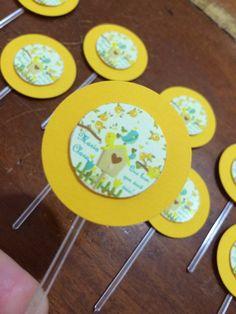 Tags para doces de mesa. Tema: passarinho amarelo