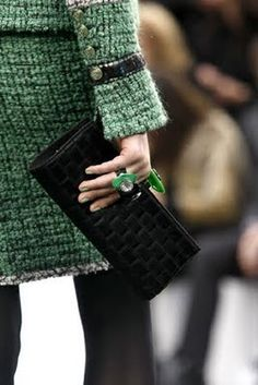 City, boucle, detailing. #lifeinstyle #greenwithenvy