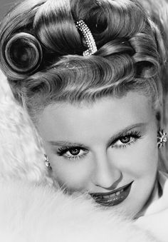 Ginger Rogers--sporting quite the hairdo!