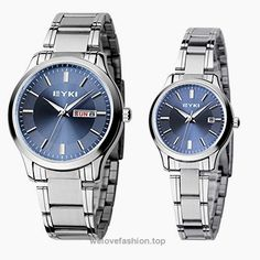 EYKI 8598 Couple Watches Quartz Waterproof Wristwatches for Lovers Pair in Package Blue Dial and Stainless Steel Band  BUY NOW     $30.68    Special and elegant appearance, forever love never out of date, suitable for any occasions. They are the best choice as a present for anniversary,Valentine's Day, birthday and any other special days! They are also cr ..