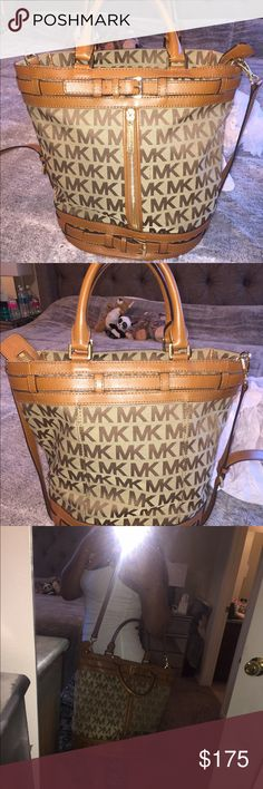 "MK Kingsbury Medium Tote Bag Great Condition, barely worn, 17""H 14""W 7""D Strap 21"" Michael Kors Bags Totes"