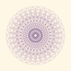 Doilay on DELIRIUM LAB / flower psychedelic abstract delay doily purple loop gif krikrak circle