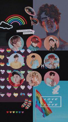 Lay Exo, Exo Kokobop, Exo Do, Kpop Exo, K Pop Wallpaper, Rainbow Wallpaper, Baekhyun, Rainbow Aesthetic, Kpop Aesthetic