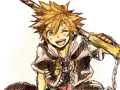 Most popular tags for this image include: sora, kingdom hearts, cute, drawing and keyblade Kingdom Hearts Ii, Kingdom Hearts Characters, Kingdom Hearts Fanart, Chain Of Memories, Studios, Dearly Beloved, Vanitas, Anime Guys, Disney