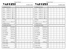 Yahtzee Score Sheets Printable | Activity Shelter