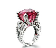 gorgeous rubellite ring