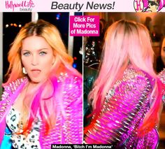 Madonna Rocks Hot Pink Ombre Hair In 'Bitch I'm Madonna' Video