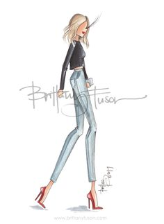 Danielle | Brittany Fuson | fashion illustration