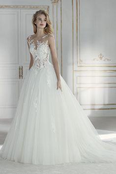 40272561e 2019 Tulle Scoop con apliques Sweep Train una línea de vestidos de novia  US  239.00 VTOPJJAL4RN