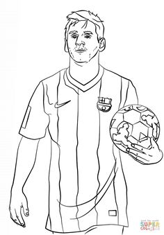 Top 9 Lionel Messi Coloring Sheets for Soccer Fans - Coloring Pages Football Coloring Pages, Sports Coloring Pages, Colouring Pages, Coloring Pages For Kids, Coloring Sheets, Soccer Pro, Messi Soccer, Soccer Boys, Head Soccer