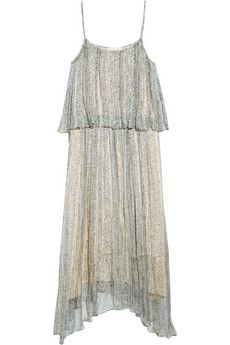 Band of Outsiders Tiered floral-print dress   THE OUTNET
