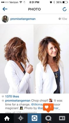 Yesss, my next hair cut! It's almost like this now...just needs a little trim in the back. :)
