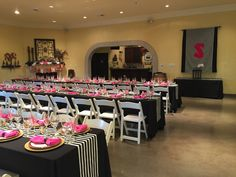 Black & white stripes with gold Kate Spade themed bridal shower at Windmill Ridge Winery Winery Bridal Showers, Black White Stripes, Windmill, Birthdays, Kate Spade, Gold, Anniversaries, Birthday