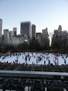 Wollman (Trump) Rink - Central Park, NY Nyc With Kids, Skating Rink, Central Park, New York City, New York Skyline, Places To Go, Dolores Park, Bucket, Tower