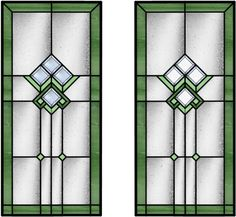 Craftsman Bevels - Stained glass doors