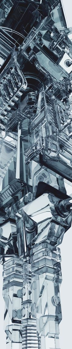 Transparent Machines by Mike Winkelmann, via Behance