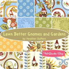 Lawn Better Gnomes and Gardens Fat Quarter Bundle Heather DuPont for In the Beginning Fabrics napkins?