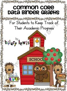 1st through 5th grade Common Core Data Binder Graphs
