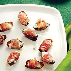 warm dates with soft blue cheese + proscuitto {i've made this sunset mag recipe + it's delicious!}