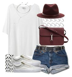 """""""Untitled #3340"""" by hellomissapple on Polyvore featuring Acne Studios, Topshop, Vans, Gucci, ASOS, rag & bone and Forever 21"""