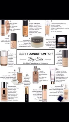 best foundations for dry skin:) #Beauty #Trusper #Tip