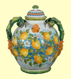 Poutiche grande con Limoni cm. 50 - Vasi - Amalfi Coast Ceramics