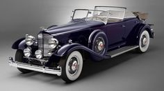 Vintage Cars Wallpaper Front, 1932 Packard Twin Six Individual Custom, convertible sedan - Hd Vintage, Cars Vintage, Retro Cars, Antique Cars, Car Photos, Car Pictures, Classy Cars, Old Classic Cars, Cabriolet
