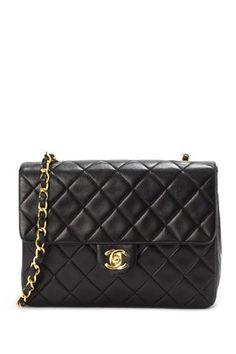Vintage Chanel Lambskin Mini Matelasse Chain Shoulder Bag