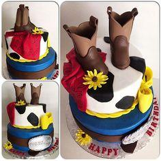 #cowgirlcake #chocolatefondant #boots #beltbuckle #buttercream #funtoeat #fondantfun #yummy #cowgirl #cowboy #cake #cakeart #lovetomakecakes #lovetodecoratecakes #caking #cakingit #cakingitup