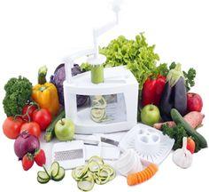 Mueller Spiral-Ultra Multi-Blade Spiralizer, 8 into 1 Spiral Slicer, Heavy Duty Salad Utensil, Vegetable Pasta Maker and Mandoline Slicer for Low Carb/Paleo/Gluten-Free Meals Veggie Pasta Maker, Vegetable Pasta, Vegetable Spiralizer, Skinny Recipes, Raw Food Recipes, Gluten Free Recipes, Healthy Recipes, Spiral Vegetable Slicer, Mandoline